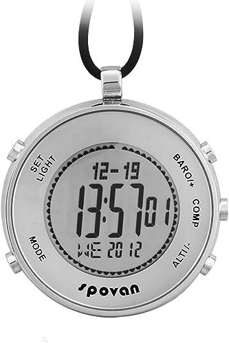 Reloj de Bolsillo Digital Hombre Mujer Deportivos Brújula Barómetro Altímetro Termómetro: Amazon.es: Relojes