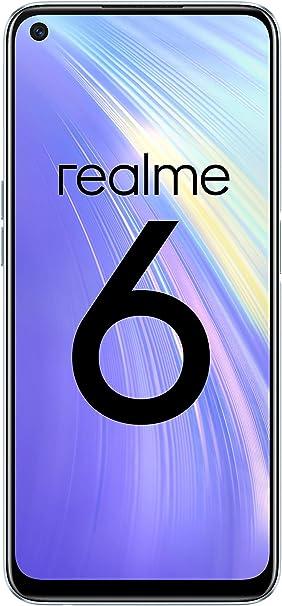 """Oferta amazon: realme 6 – Smartphone de 6.5"""", 8 GB RAM + 128 GB ROM, Procesador OctaCore, Cuádruple Cámara AI 64MP, Dual Sim, Color Comet White"""