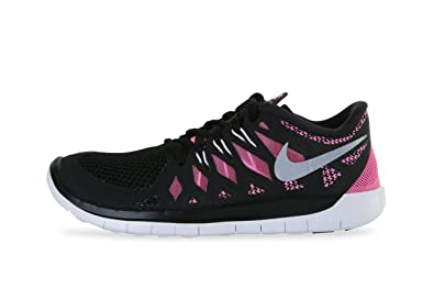 1bfc92375 Nike Free 5.0 (GS) 644446 001 Black   Pink Running Shoes for Girls ...