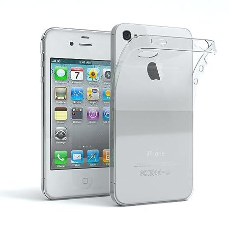 EAZY CASE Hülle für Apple iPhone 4 / 4S Schutzhülle Silikon, Ultra dünn Slimcover, Handyhülle, Silikonhülle, Backcover, Trans