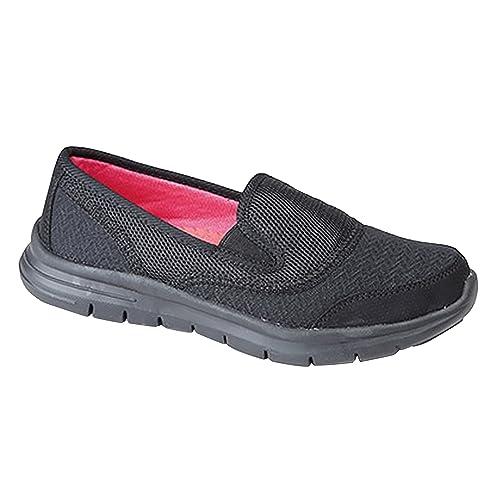Dek - Zapatillas deportivas con elástico ligeras para mujer: Amazon.es: Zapatos y complementos
