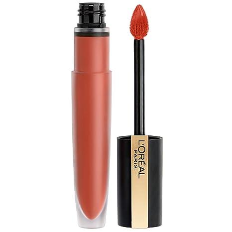 L'oréal Paris Makeup Rouge Signature, Lasting Matte Liquid Lipstick, Ultra Lightweight, Ultra Comfortable, High Pigment Color, Precise Applicator Shapes & Lines Lips, I Achieve, 0.23 Oz. by L'oreal Paris