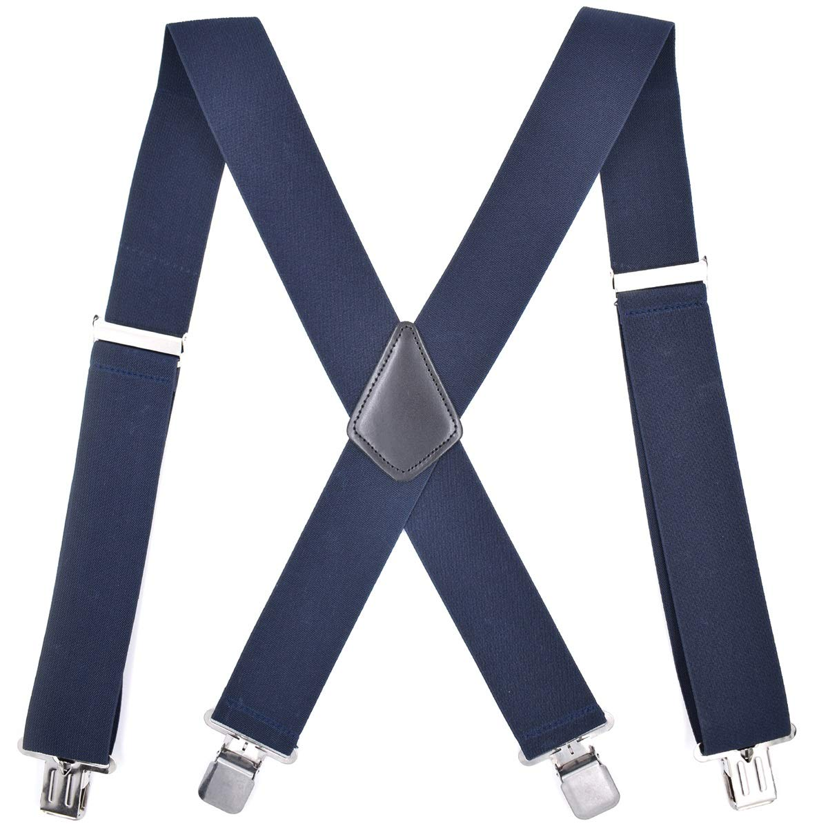 Men's Suspenders Clip-On Trousers Braces for Wedding Prom Work Birthday Wine Red Hisret Classic Mens Suspender