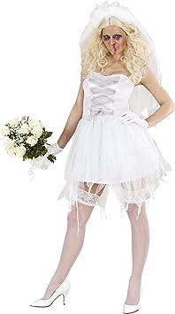 WIDMANN 87242 - Disfraz de novia zombie para mujer (talla M ...