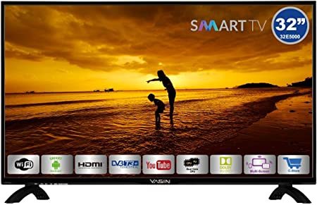 HKC Yasin 32E5000: 80 cm (32 Pulgadas) Smart-TV (HD Ready, Triple ...