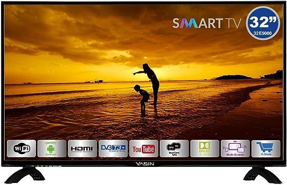HKC Yasin 32E5000: 80 cm (32 Pulgadas) Smart-TV (HD Ready, Triple Tuner, Ci+, Reproductor de Medios a través de USB 2.0): Amazon.es: Electrónica