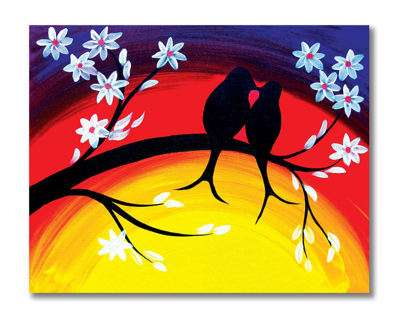 Tamatina Canvas Painting Love Birds Home Decor Paintings For Living Room Modern Art Painting Painting For Home Decor Painting For Drawing Room Wall Painting For