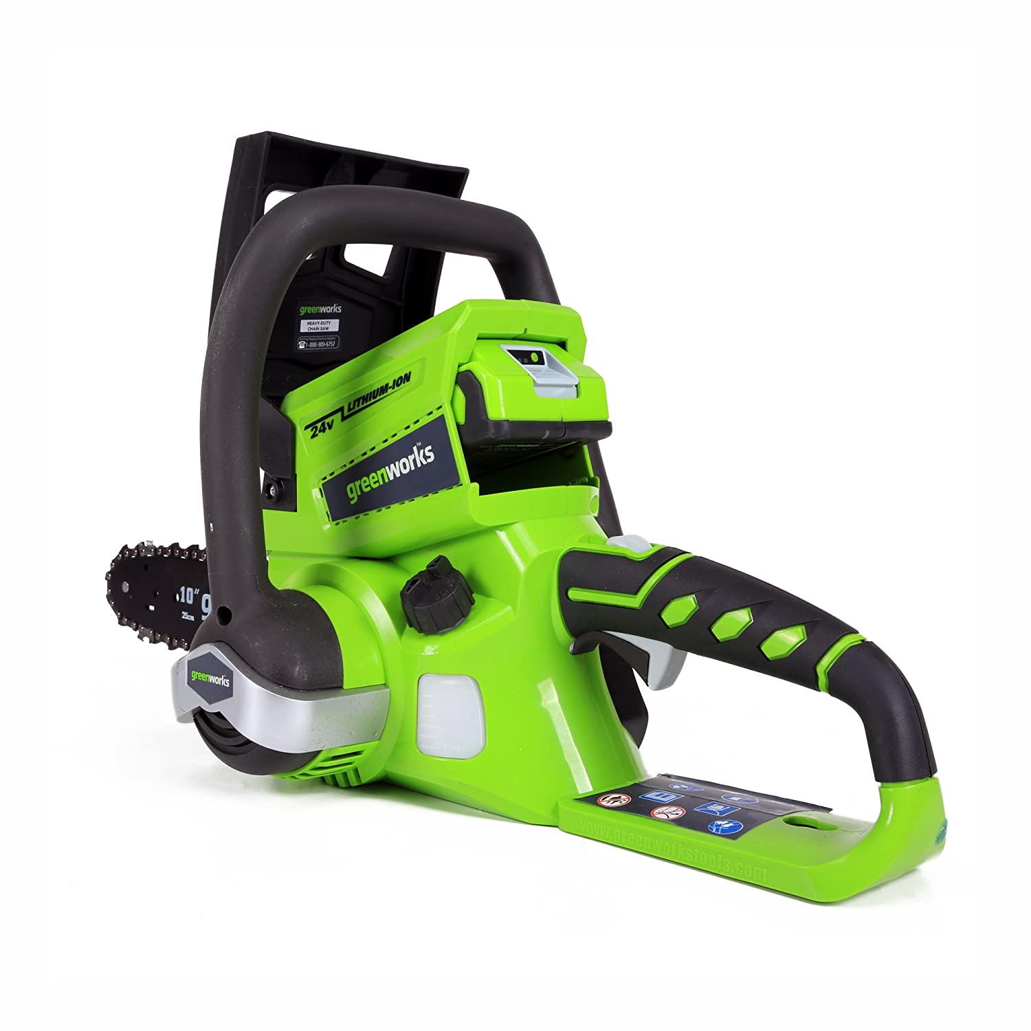 2.0 AH Battery Included 20362 Greenworks 10-Inch 24V Cordless Chainsaw