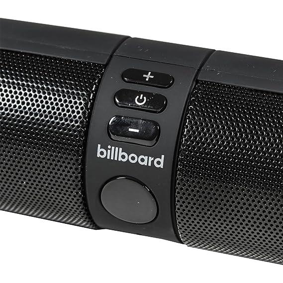 Amazon.com: Billboard Bluetooth Wireless Speaker With Enhanced Bass, TF Card and USB Flash Drive Slots - Black: Electronics
