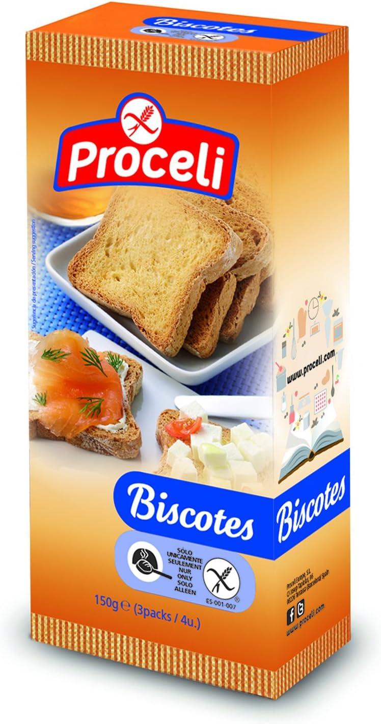 Biscotes sin gluten PROCELI (150 gr)