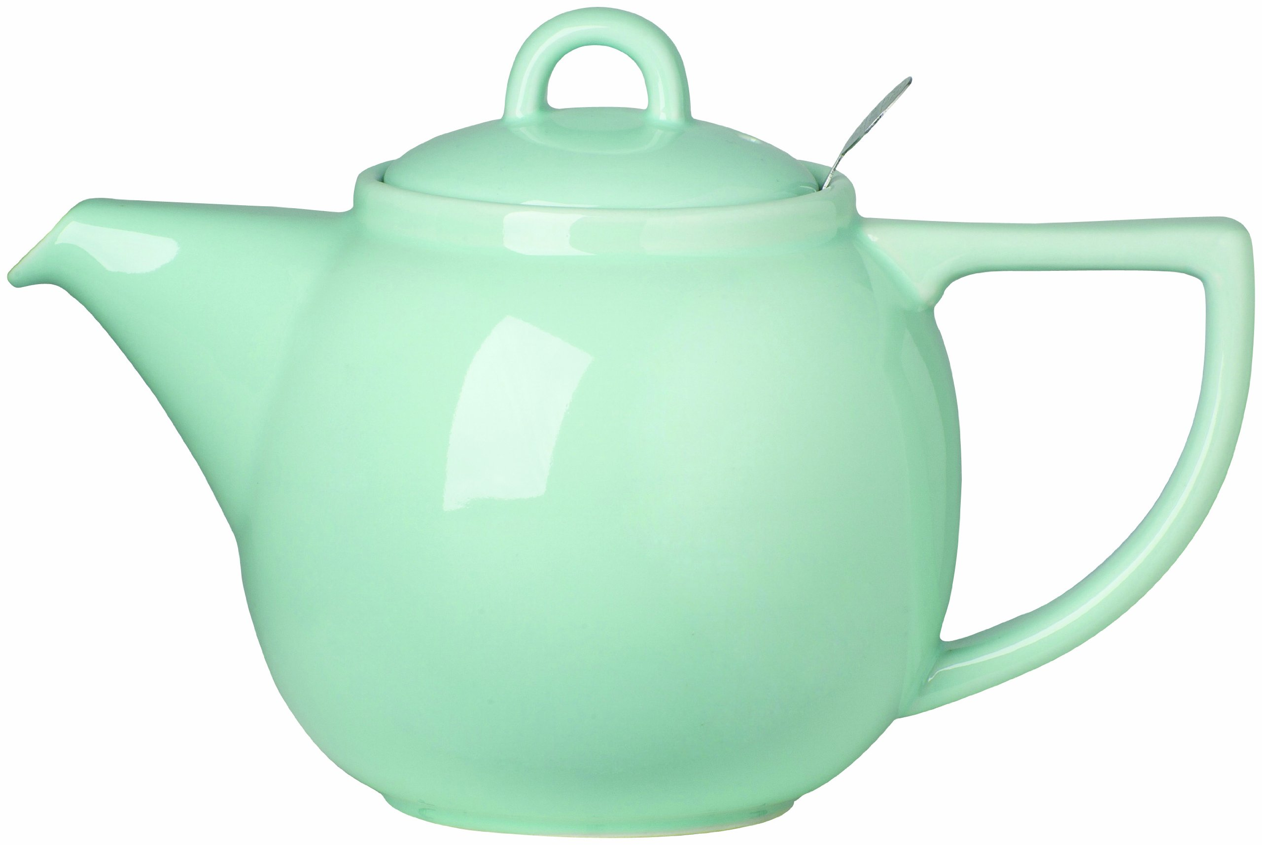 London Pottery Geo Teapot with Stainless Steel Infuser, 4 Cup Capacity, Aqua Blue
