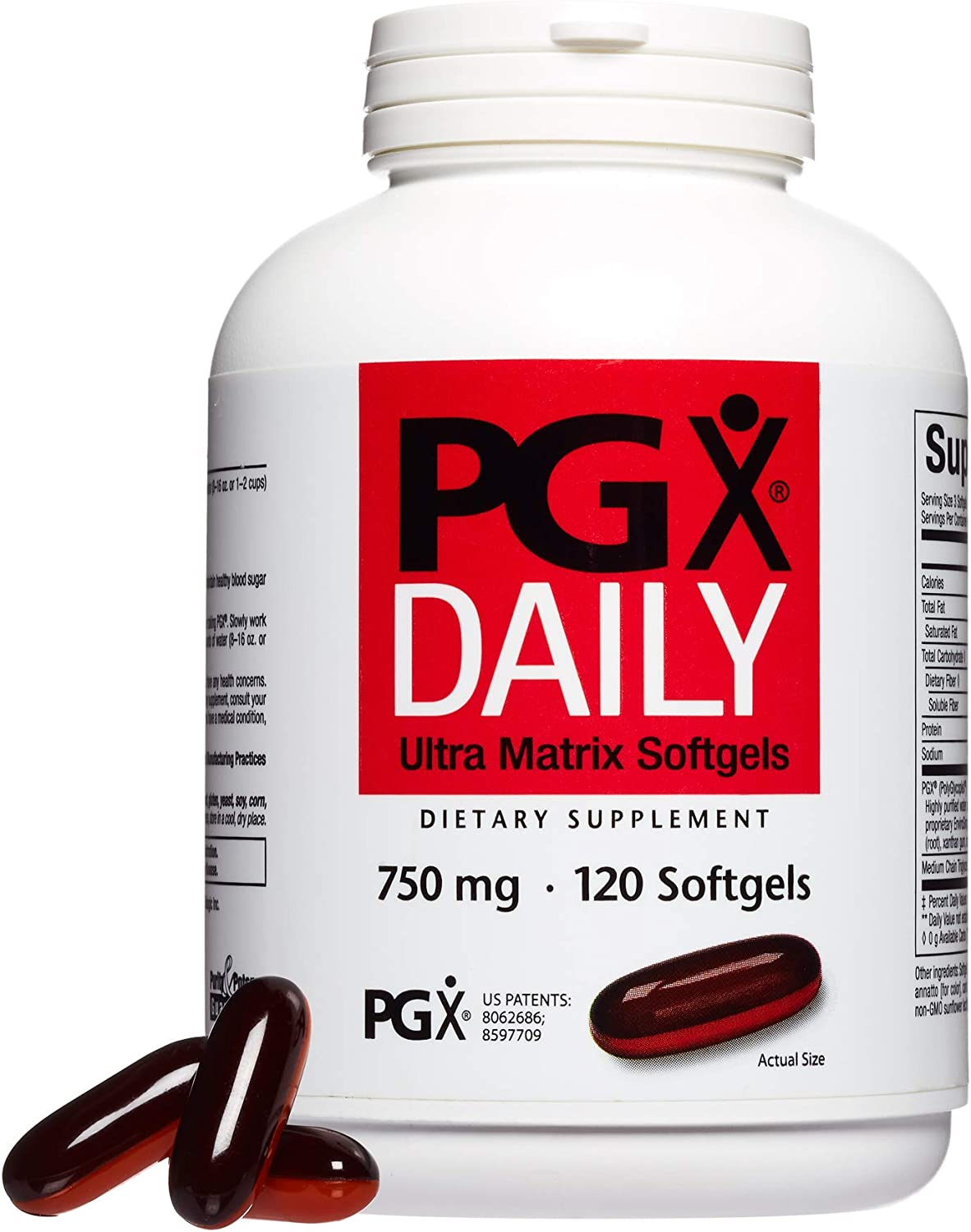 PGX by Natural Factors, Daily Ultra Matrix 750 mg, Helps Maintain Blood Sugar and Cholesterol Levels Already In the Normal Range, 120 softgels 40 servings