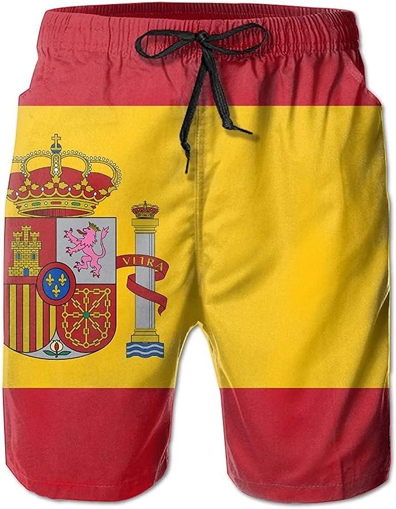 MrRui Bandera de España Hombre/Niños Casual Natación Trunks Corto Cintura Elástica Pantalones de playa con bolsillos Blanco blanco XXL: Amazon.es: Ropa y accesorios