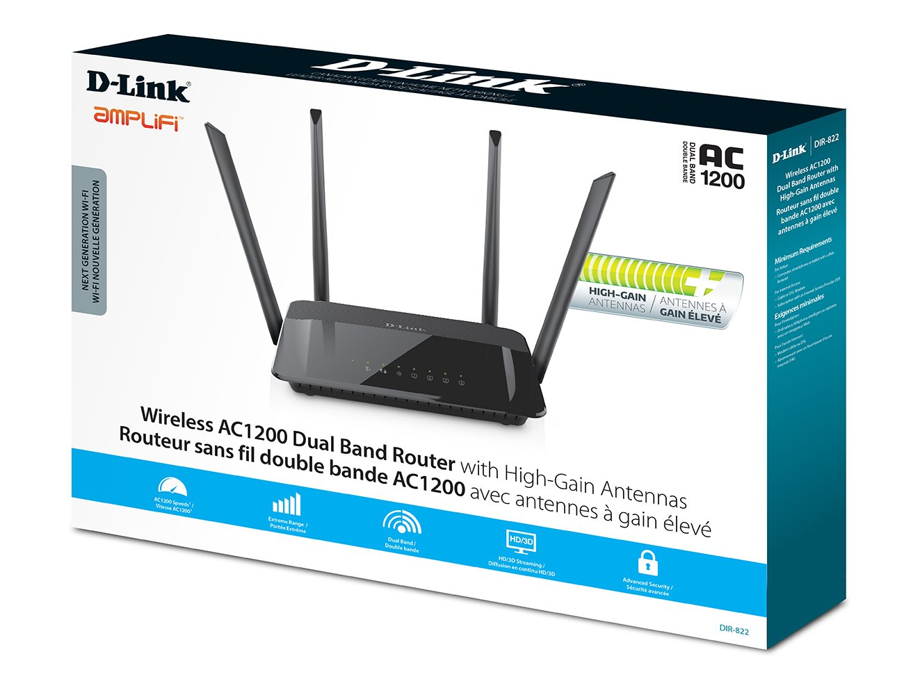 D-Link DIR-822 Rev.B Router New