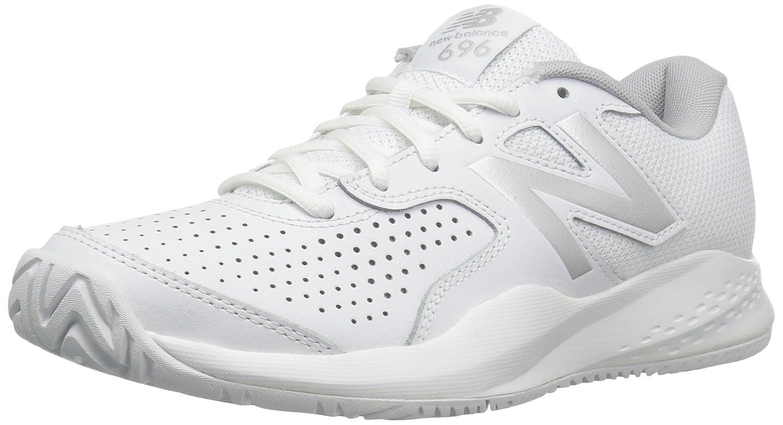 New Balance Women's WC696V3 Hard Court Tennis Shoe B01FSIK7CO 12 D US|White/Silver