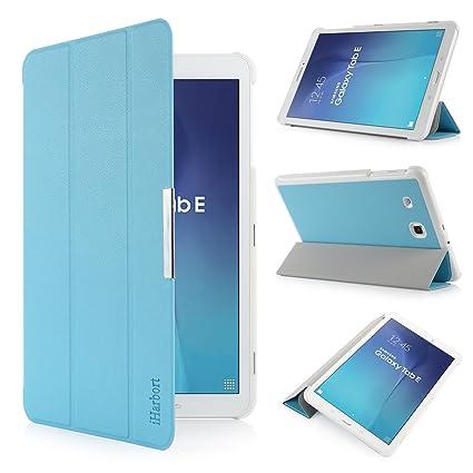 iHarbort® Samsung Galaxy Tab E 9.6 Funda - ultra delgado ligero Funda de piel de
