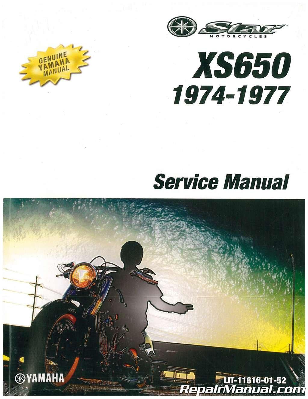 LIT-11616-01-52 1974-1977 Yamaha XS650 Motorcycle Service Manual:  Manufacturer: Amazon.com: Books