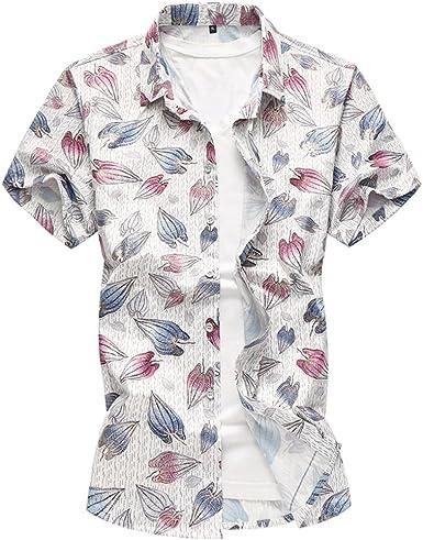 WanYangg Hombre Camisas Hawaianas Verano Manga Corta Camisas Casuales de Flores Tropical Camisa Verano de Fiesta tee Tops Azul 7XL: Amazon.es: Ropa y accesorios