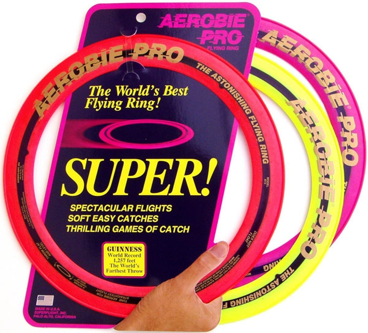 Aerobie Pro Ring Outdoor Flying Disc - Colors May Vary by Aerobie