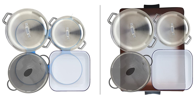 hotmat eléctrico de alimentos placa calentadora - Compacto & portátil - Dos niveles de calor - Ideal para shabbos, casa & Viajes - Certificado de Seguridad ...