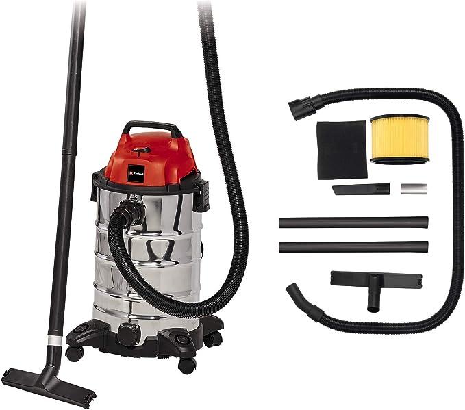Einhell 2342188 Aspirador seco-húmedo, 1500 W, 230 V, Negro, Gris, Rojo: Amazon.es: Bricolaje y herramientas