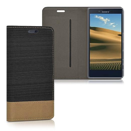 2 opinioni per kwmobile Cover Flip per Sony Xperia X Compact- Custodia a libro protettiva per