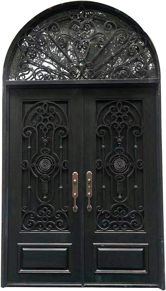 Puertas de hierro forjado doble exterior entrada frontal doble ...