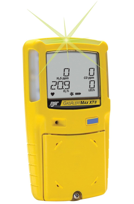 BW tecnologías xt-00h0-y-na GasAlertMax XT II 1-gas detector con bomba, H2S, 0 - 200 ppm Rango de medición, 1 ppm Resolución, Amarillo: Amazon.es: Amazon.es