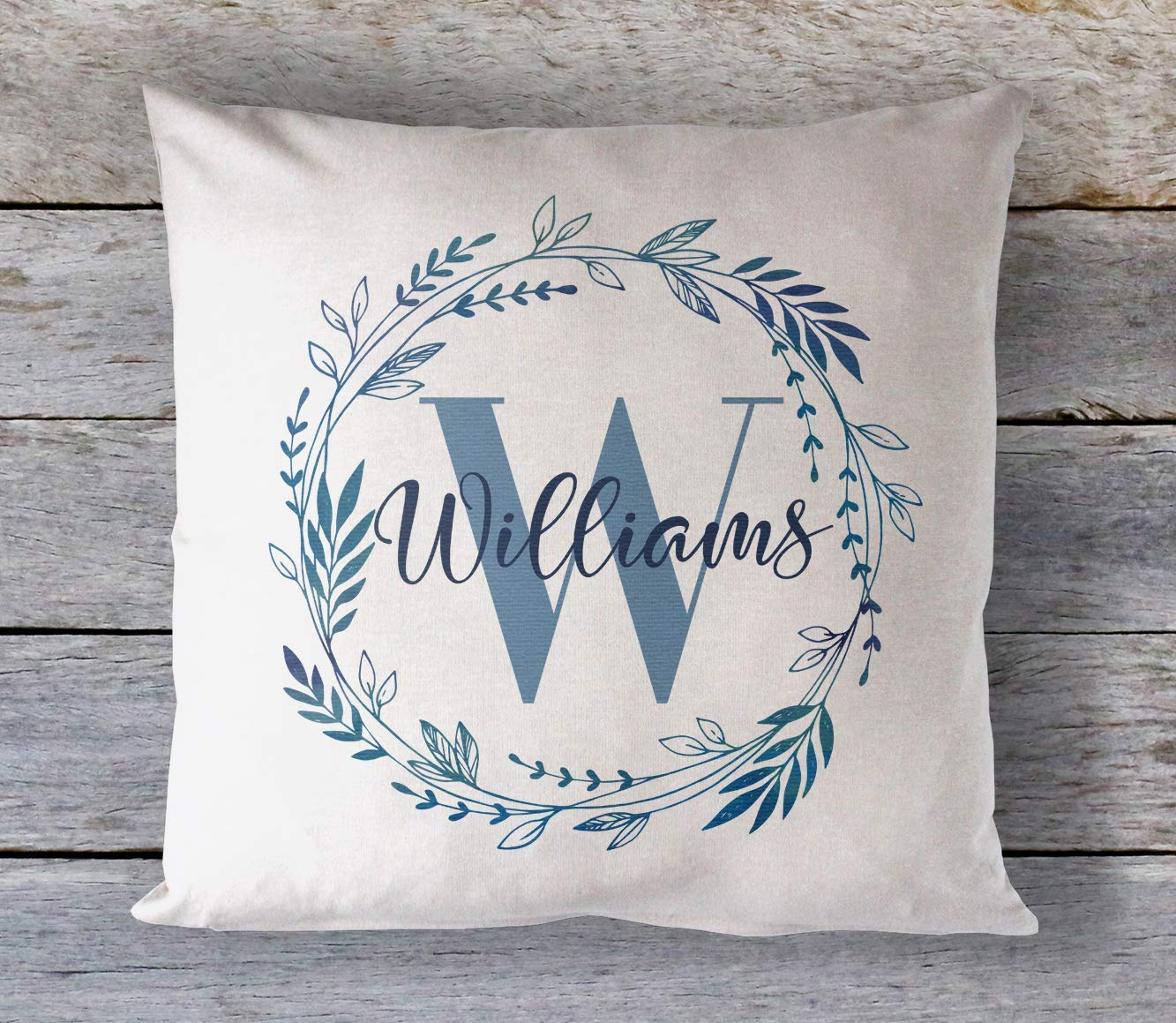 Amazon.com: Personalized Name Wreath Pillow Cover, Custom Pillow Cushion  Cover, Rustic Country Decor Pillow, Decorative Throw Pillow Case, Farmhouse  Printed Pillow: Handmade