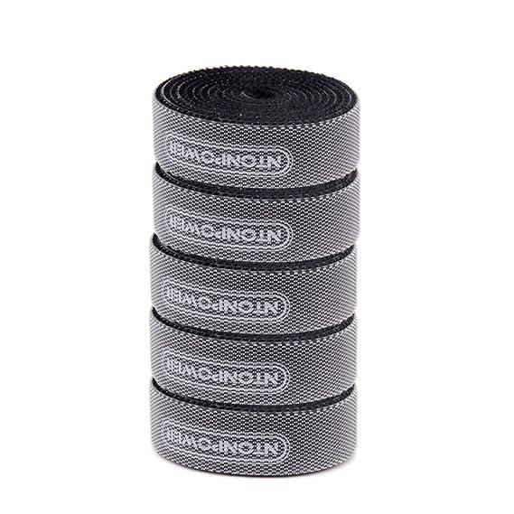 5 Piezas Tiras de Velcro Adhesivas para Sujetar y Organizar Cables 1000mmx 14 mm-Negro: Amazon.es: Electrónica