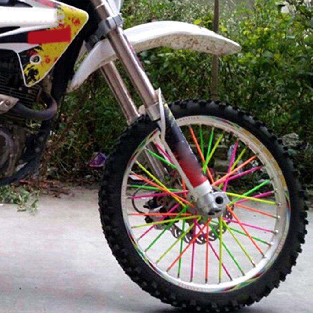 Noir 11 Couleurs en Option Homyl Universel Moto Dirt Bike Motocross Spoke Skins Couvre Jambe De Rayon pour Roues De Moto