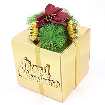 christmas light up gift boxes yard outdoor decoration gold tone