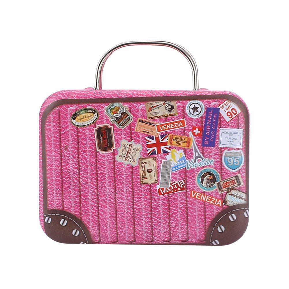 Kicode Retro Europe Mini Suitcase Candy Box Snack Vintage Storage Gift Case Sugar Coffee Tea