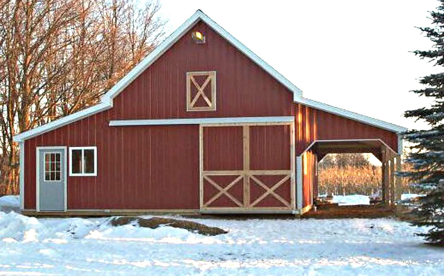 41 Small Barn Designs Complete Pole Barn Construction Blueprints