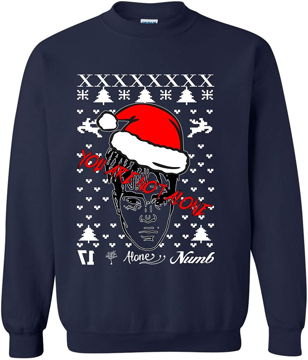 ALLNTRENDS Adult Sweatshirt You are Not Alone Ugly Xmas Top Trendy
