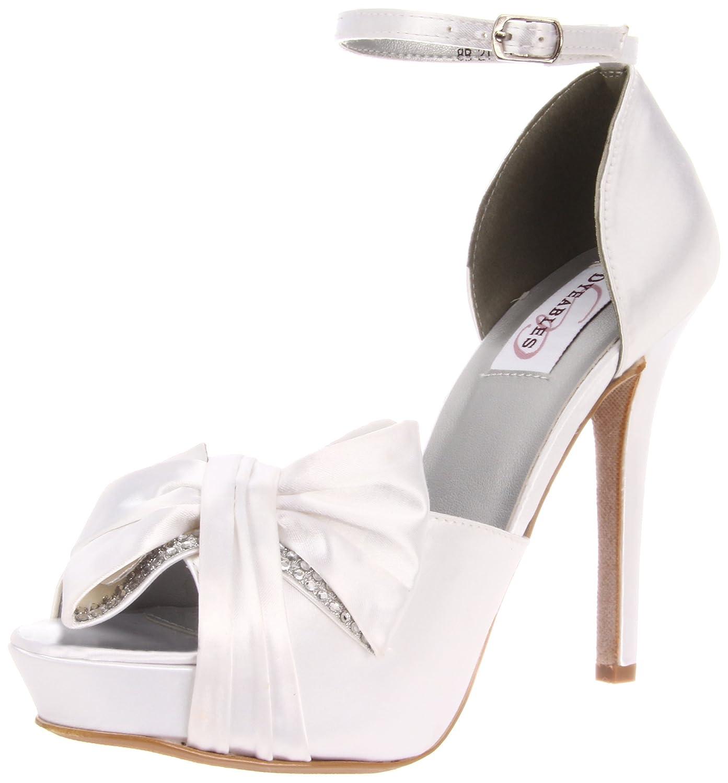 Dyeables Women's 9.5 Jay Platform Sandal B007XTO142 9.5 Women's B(M) US|White Satin 994143