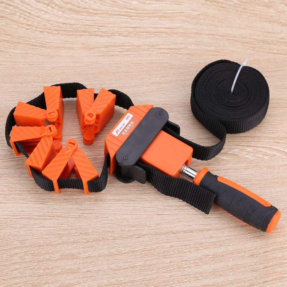 Multifunktionsrahmen Bandspanner Spannklemme Bandzwinge Rahmen-Bandspanner mit 4 Spannbacken und 4-Meter-Nylonband f/ür die Holzbearbeitung