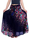 "Lannaclothesdesign Women's 37"" Long Maxi Skirt Bohemian Gypsy Hippie Style Clothing"