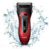 Afeitadora Eléctrica Rotativa Recortador de Barba para Hombres Uso en Seco&Húmedo Impermeable Recargable Sin Cable de ELEHOT