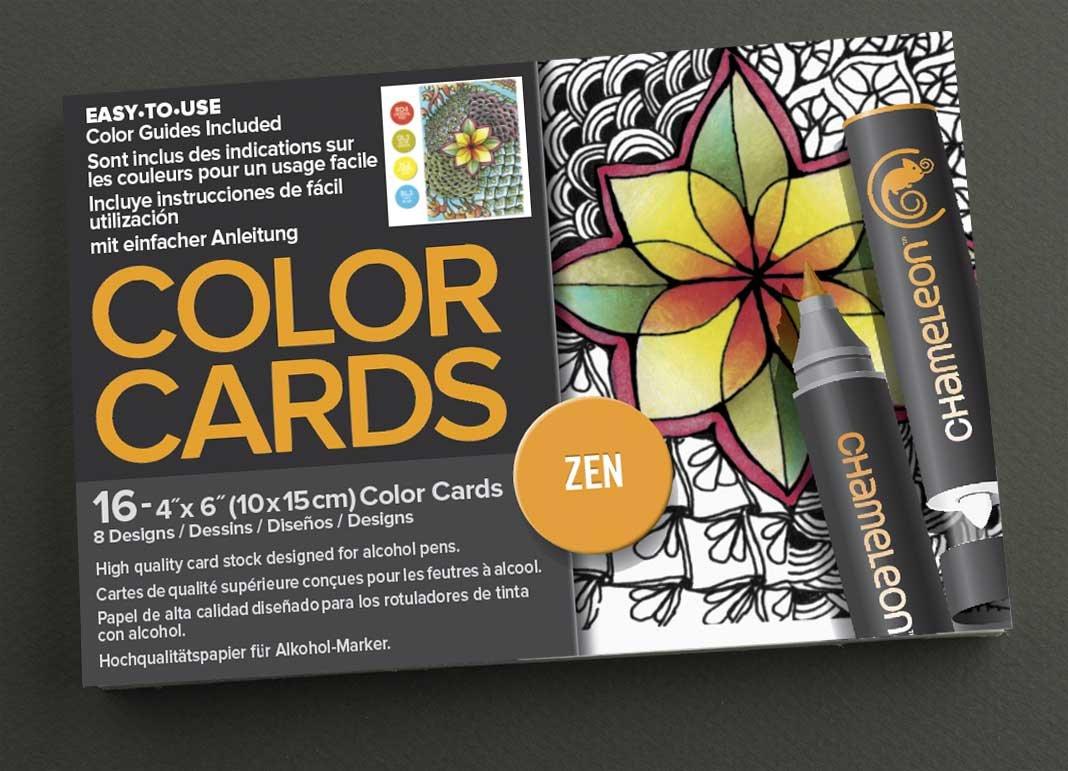 amazon com chameleon chm02202 16 piece zen color cards 4