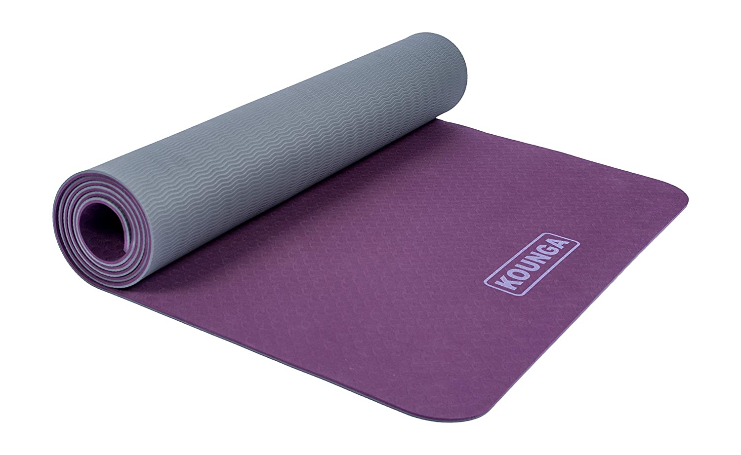 Kounga Pro Light 5 - Colchoneta Esterilla de Yoga, Unisex Adulto, Purple/Grey, 183 x 61 cm