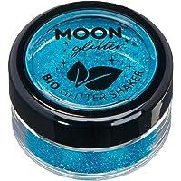 Saleros de Purpurina Eco Biodegradable de Moon Glitter - Purpurina 100% Cosmética Bio para Cara, Cuerpo, Uñas, Pelo y Labios - 5g - Azul