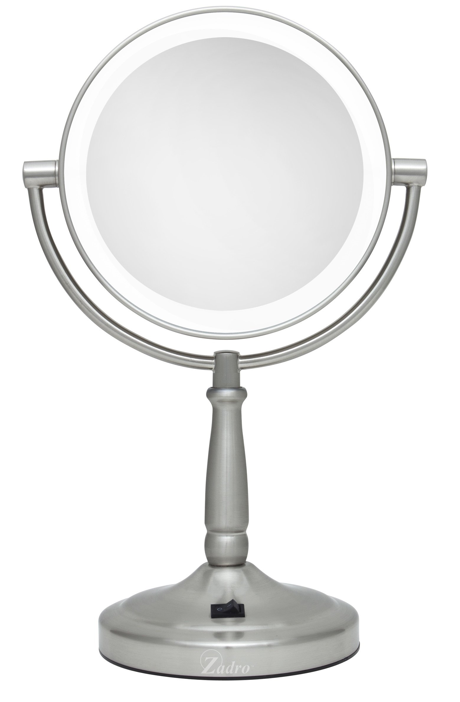 Zadro 10X/1X Magnification Dual-Sided Vanity Mirror, Satin Nickel by Zadro