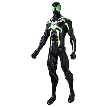 Marvel Spider-Man Titan Hero Series Figure Big Time Spider Man, Black (12-inch)