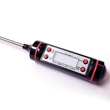 Termometro Digital con Sonda para Cocina Carne Comida Bebida Pila + Estuche 2252