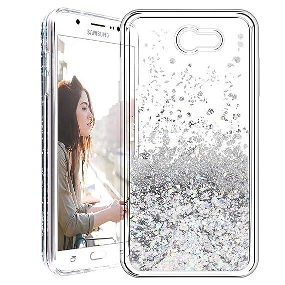 0e4ec74b7e Caka Galaxy J7 2017 Case, Liquid Series Glitter Bling Flowing Floating  Luxury Liquid Sparkle Soft TPU Case for Samsung Galaxy J7 Sky Pro/Prime/J7  V/J7 ...