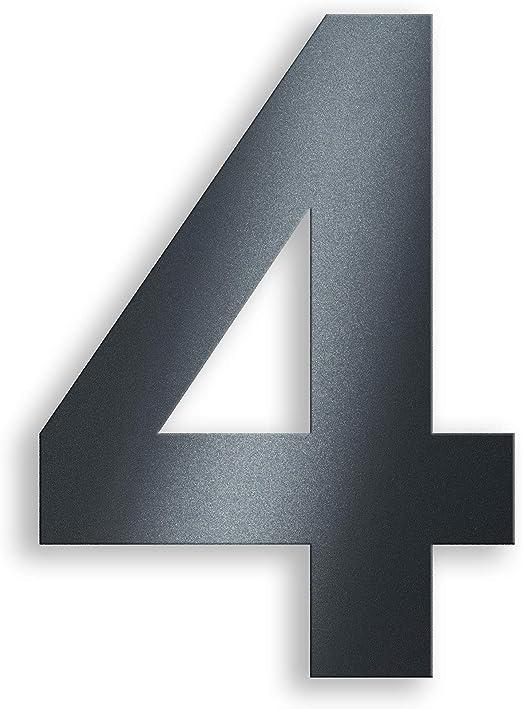 Anthrazit Hausnummer aus Edelstahl ALLE Nummern und Buchstaben RAL7016 Modern