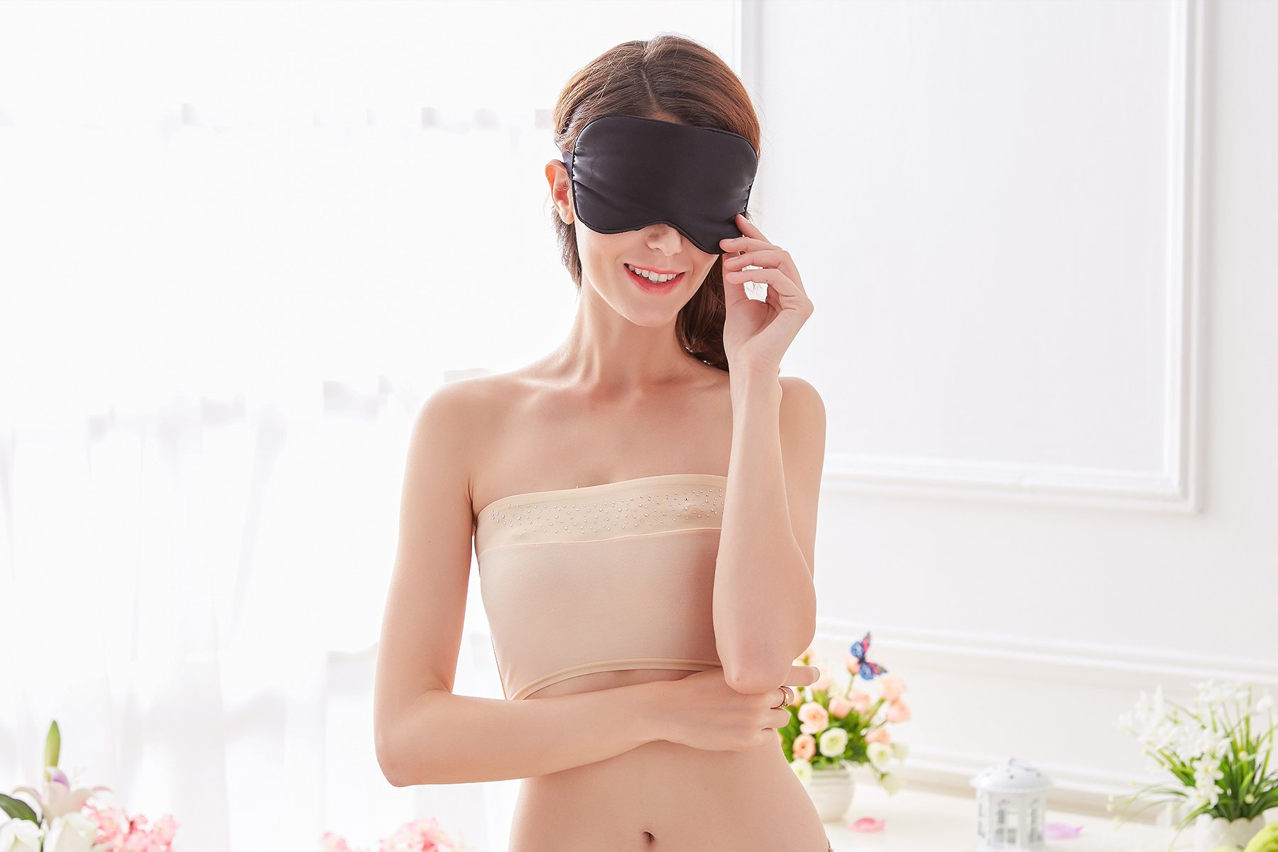 Natural Silk Sleep Mask & Blindfold - Lifetime Guarantee - Super Smooth Eye Mask for Men & Women & Kids - Your Best Travel Sleeping Helper - Include FREE Ear Plugs by Babo Care (Image #6)