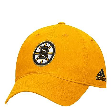 Amazon.com   adidas Boston Bruins NHL Adjustable Team Slouch Gold ... 94f46f1c0d41
