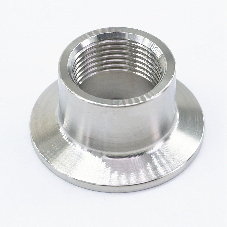 Sorekarain 3//4 BSP Female x 1.5 Tri Clamp 304 Stainless Steel Sanitary Pipe Fitting For Homebrew